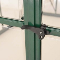 8 x 12 Palram Balance Greenhouse in Green - door handle can be locked with a padlock