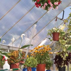 8 x 20 Palram Balance Greenhouse in Silver - reinforced roof structure