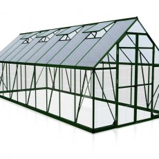 8 x 20 Palram Balance Greenhouse in Green - isolated view