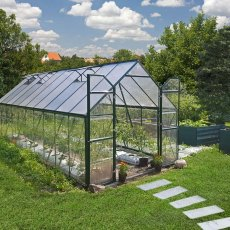 8 x 20 Palram Balance Greenhouse in Green - in situ