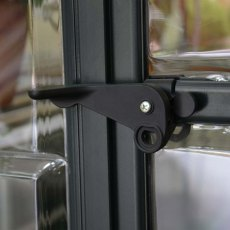 Palram Harmony Greenhouse in Grey - door handle can be locked with a padlock