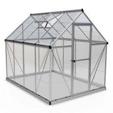 6 x 8 Palram Harmony Greenhouse in Silver - isolated view