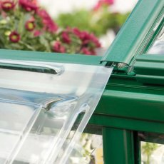 Palram Harmony Greenhouse in Green - easy slide polycarbonate panels