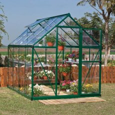 6 x 8 Palram Harmony Greenhouse in Green
