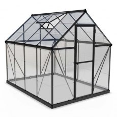 6 x 8 Palram Harmony Greenhouse in Grey - isolated view