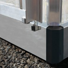 Palram Harmony Greenhouse in Silver - galvanised steel base aids stability