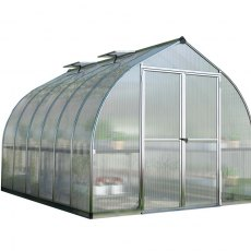 8 x 12 Palram Bella Greenhouse in Silver - isolated view