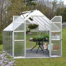 8 x 12 Palram Essence Greenhouse in Silver - in situ