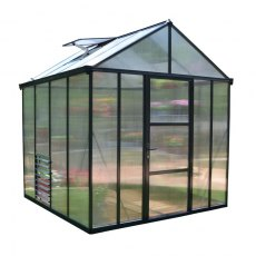 8 x 8 Palram Glory Greenhouse in Anthracite - isolated view
