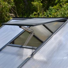 8 x 16 Palram Glory Greenhouse in Anthracite - auto opening roof vent