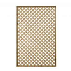 4ft High Forest Rosemore Lattice Trellis - Pressure Treated - isolated front view