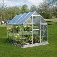 6 x 8 Palram Hybrid Greenhouse in Silver