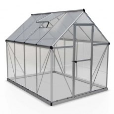 6 x 8 Palram Hybrid Greenhouse in Silver - isolated view