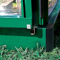 Palram Hybrid Greenhouse in Green - door handle can be locked with a padlock