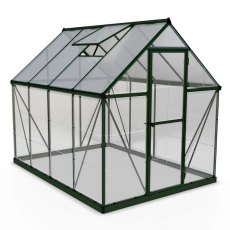6 x 8 Palram Hybrid Greenhouse in Green - isolated view
