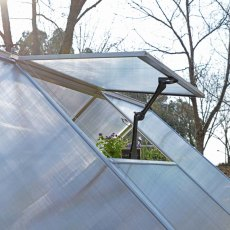 Palram Hybrid Greenhouse in Silver - single manual opening roof vent