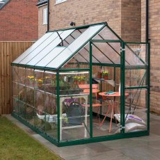 6 x 10 Palram Hybrid Greenhouse in Green
