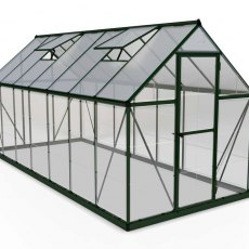 6 x 14 Palram Hybrid Greenhouse in Green- isolated view