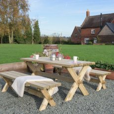 Grange Classic Garden Table and Bench Set - Pressure Treated