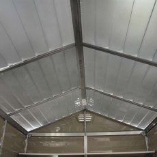 6x12 Palram Skylight Plastic Apex Shed - Tan - skylight roof