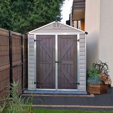 6x12 Palram Skylight Plastic Apex Shed - Tan - customer photo