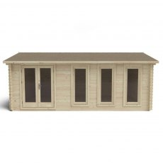 13G x 20 (4.00m x 6.00m) Forest Blakedown Log Cabin (45mm Logs)
