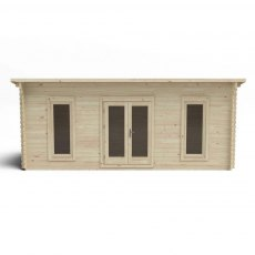 10G x 20 (3.00m x 6.00m) Forest Arley Pent Log Cabin (45mm Logs)