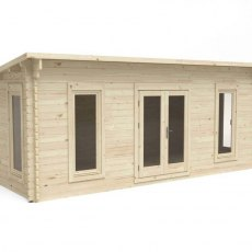 10 x 20 Forest Arley Pent Log Cabin - 3/4 view