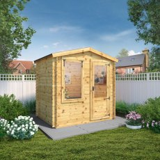 2.5m x 2m (7ft 7inG x 5ft 10in) Mercia Log Cabin - 19mm Logs
