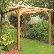 9 x 9 (2.70m x 2.70m) Forest Ultima Pergola - Pressure Treated