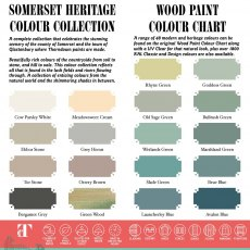 Thorndown Somerset Heritage Collection Wood Paint Colour Chart