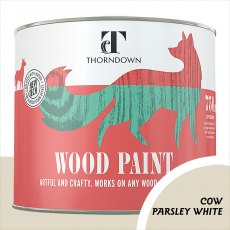Thorndown Wood Paint 750ml - Cow Parsley White- Pot shot
