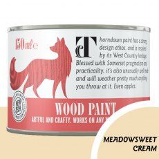 Thorndown Wood Paint 150ml - Meadowsweet Cream - Pot shot