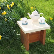 Thorndown Wood Paint 2.5 Litres - Meadowsweet Cream - Painted on table top