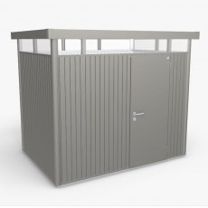 9 x 6 Biohort HighLine H2 Metal Shed - Single Door - Metallic Quartz Grey