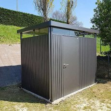 9 x 6 Biohort HighLine H2 Metal Shed - Single Door - Customer image door on side