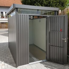 9 x 6 Biohort HighLine H2 Metal Shed - Single Door - Customer image door front facing