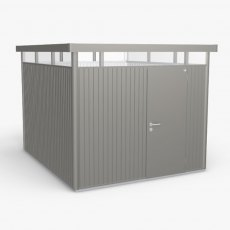 9 x 10 Biohort HighLine H5 Metal Shed - Single Door - Metallic Quartz Grey