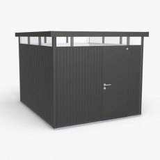 9 x 10 Biohort HighLine H5 Metal Shed - Single Door - Metallic Dark Grey