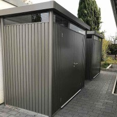 9 x 5 Biohort HighLine H1 Metal Shed - Double Door - Customer side view image