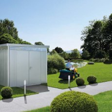 9 x 9 Biohort HighLine H4 Metal Shed - Double Door - In Situ