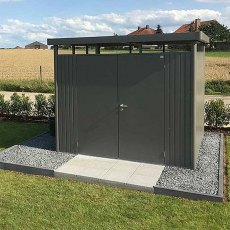 9 x 9 Biohort HighLine H4 Metal Shed - Double Door - Customer image in garden