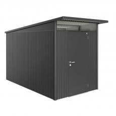6 x 12 Biohort AvantGarde A4 Metal Shed - Single Door - Metallic Dark Grey
