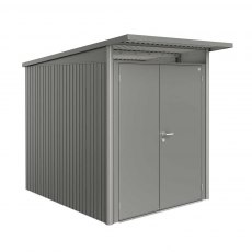 6 x 8 Biohort AvantGarde A2 Metal Shed - Double Door - Metallic Quartz Grey