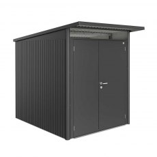 6 x 8 Biohort AvantGarde A2 Metal Shed - Double Door - Metallic Dark Grey