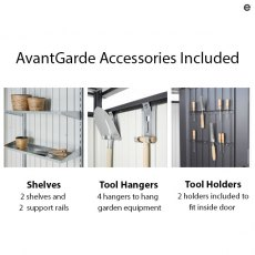 6 x 8 Biohort AvantGarde A2 Metal Shed - Accessories