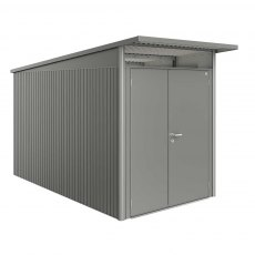 6 x 12 Biohort AvantGarde A4 Metal Shed - Double Door - Metallic Quartz Grey
