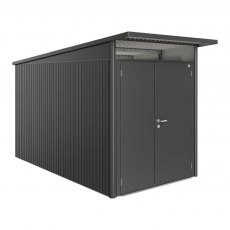 6 x 12 Biohort AvantGarde A4 Metal Shed - Double Door - Metallic Dark Grey