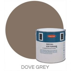 Protek Royal Exterior Paint 1 Litre - Dove Grey Colour Swatch with Pot
