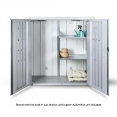 Biohort Patio Romeo Locker - Medium - Isolated shot doors open